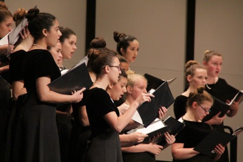 Choir performs Spring Show