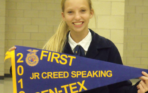 FFA creed speaker, senior chapter conduction wins first