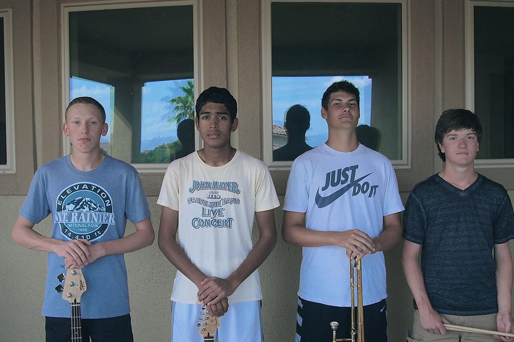 From left to right: Austin Gray, Vikram Sundaram, Cody Shelton and Torin Maguire
