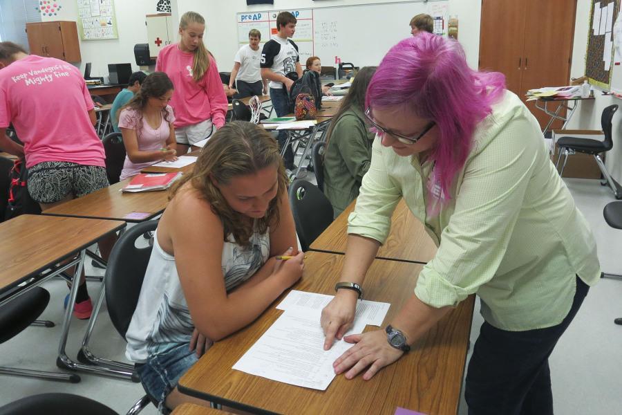 Chemistry teacher raises Breast Cancer Awareness