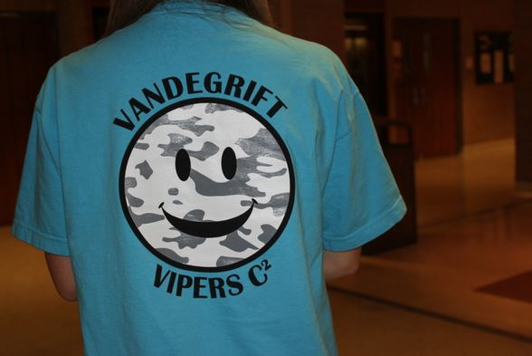 Vandegrift's C2 t-shirt exhibits there theme for the year,
