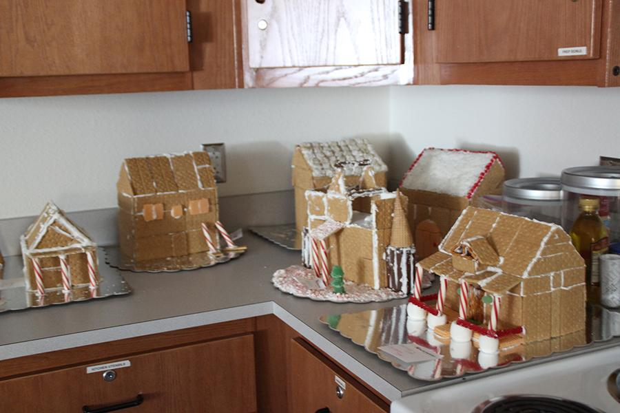 Interior design makes gingerbread houses for the holidays