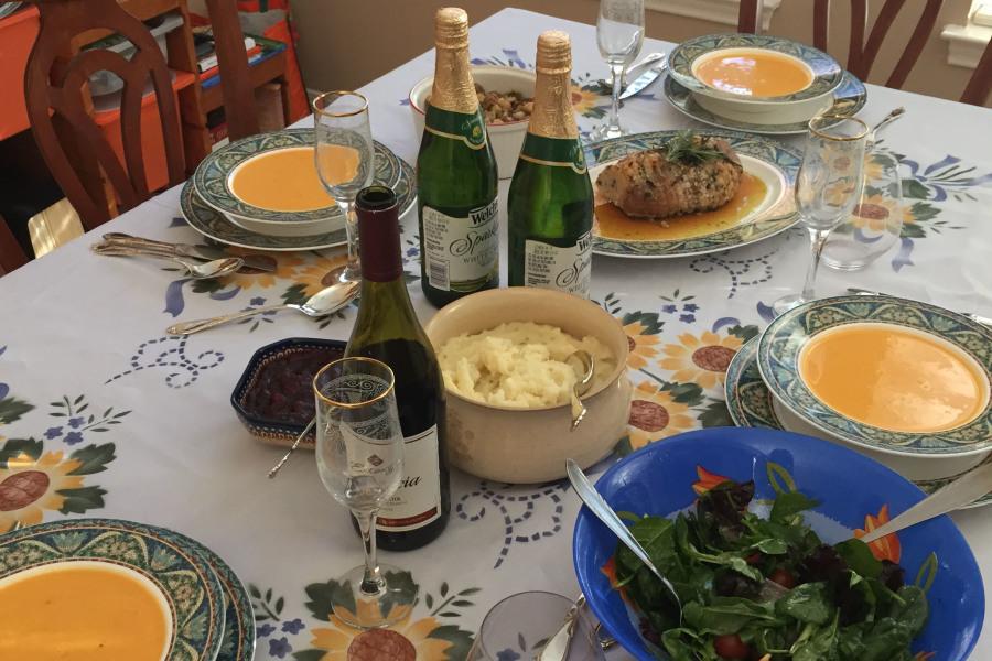 Nikita Batra's table setting for Thanksgiving