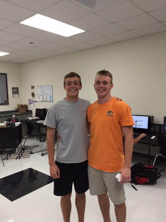 Cole Walther (left) and Cody Walther (right) are safeties for varsity.