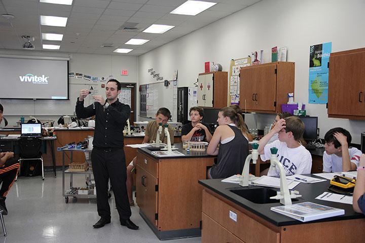 Mr.+Schocken+demonstrating+a+lab.