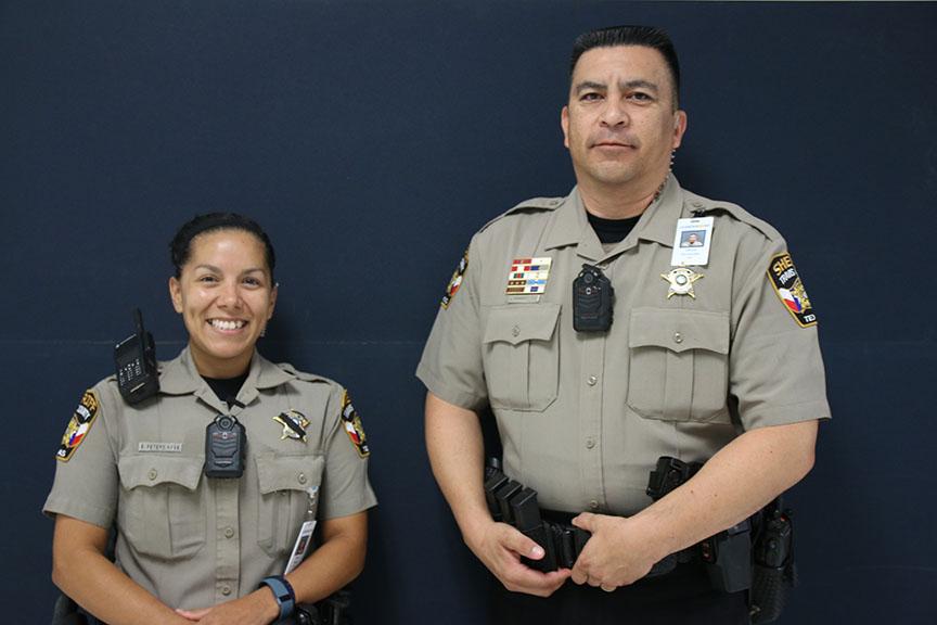 Deputy+Erica+Peters+and+Deputy+Javier+Hernandez+will+be+serving+as+Vandegrift%27s+School+Resource+Officers+starting+this+year.