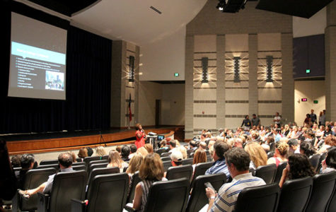 Counselors share college information with senior parents