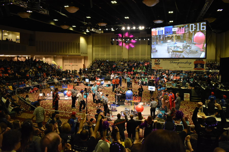 Robotics teams from the Southern half of the United States compete in Super Regionals
