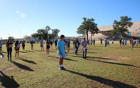 Freshman English classes participate in privilege walk activity
