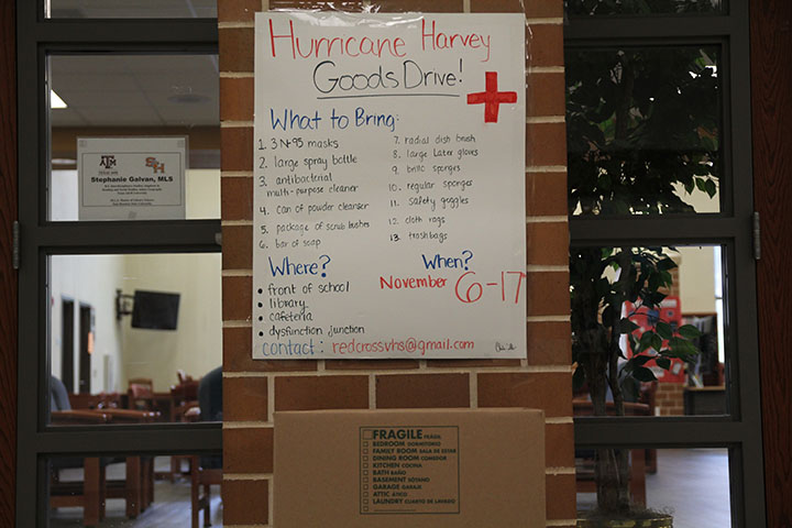 Red Cross Club sponsors goods drive for Hurricane Harvey relief