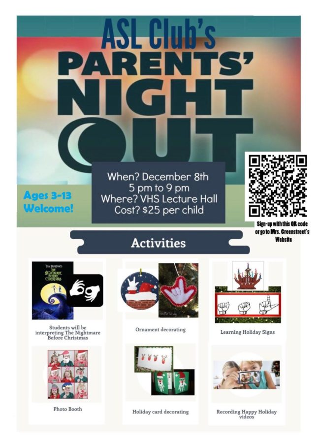ASL Club to host Parent's Night Out
