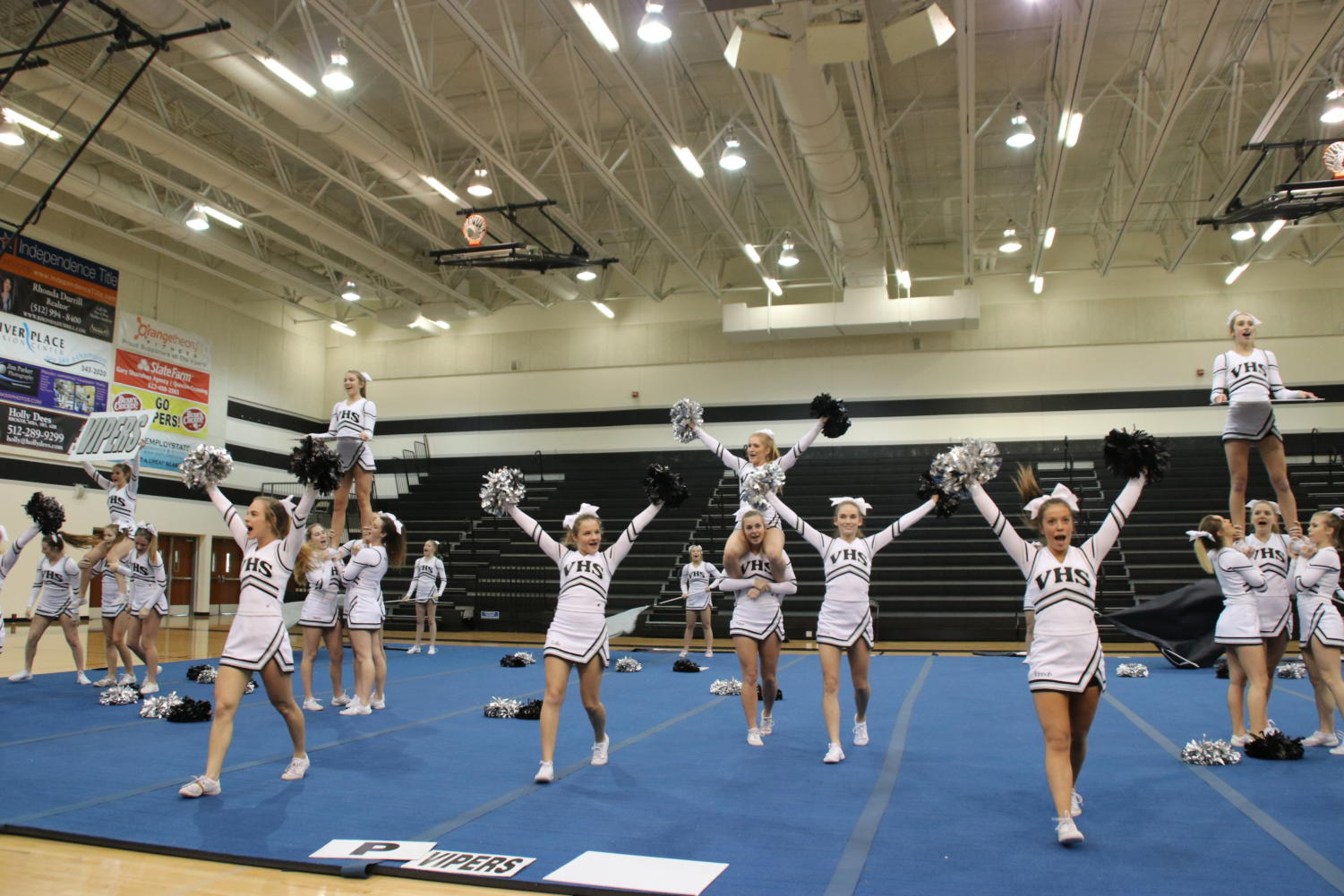Cheer held a showoff to showcase performance Wednesday during PIT.
