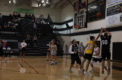 Basketball coaches and students face off