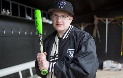 A Personal Homerun: Varsity bat boy Chris Lucido gets his first at-bat
