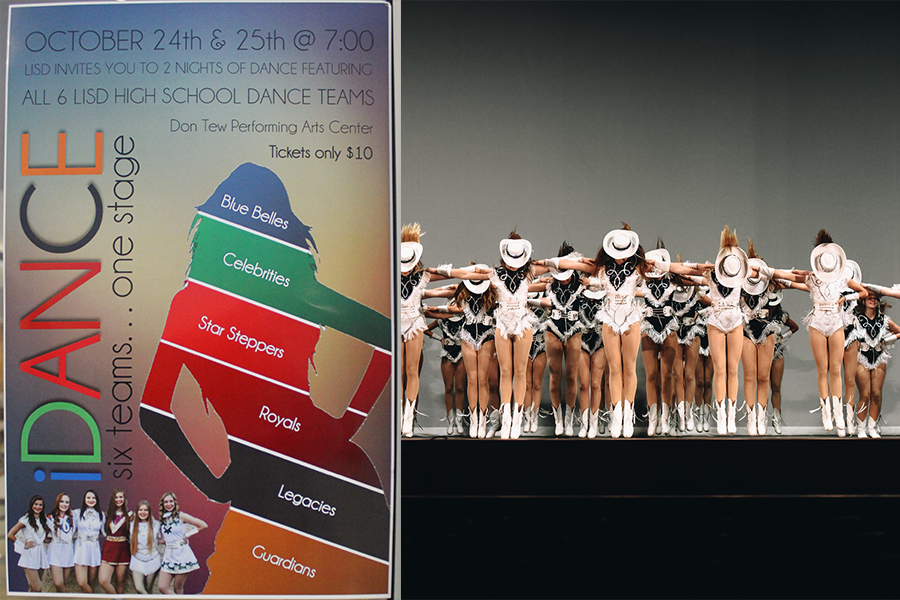 iDance poster (left). The Legacies run through one of their routines during the dress rehearsal for iDance (right).