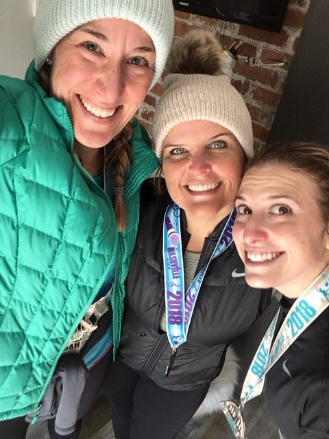 Counselors take selfie after running races in Nashville on Nov. 10.