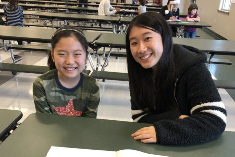 ESL students build bridges with elementary school kids