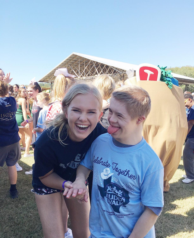 Kiersten and her good friend, Jake Labay at the annual Buddy Walk.