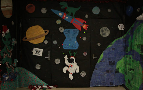 Student Council hosts first Christmas door decorating contest