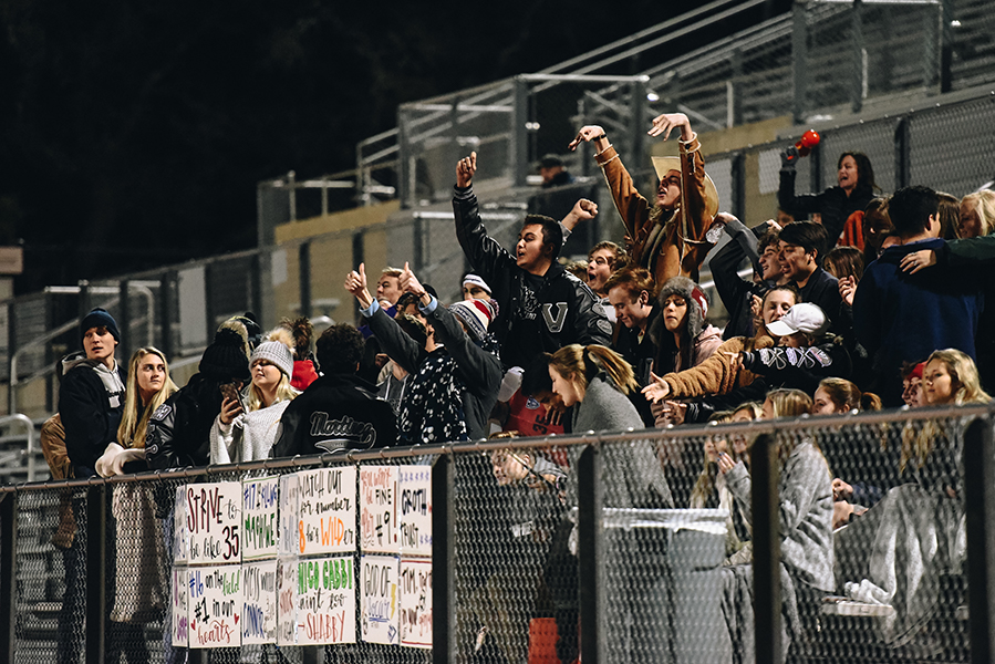 The home crowd's support was felt in the game against Sam Houston High School.