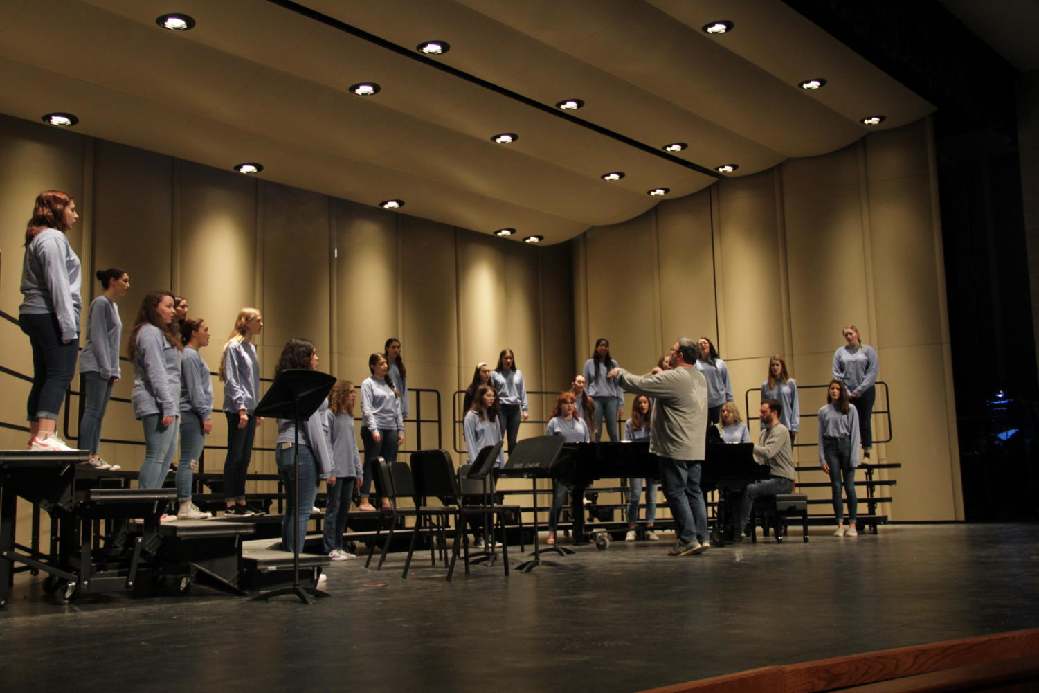 Varsity Choir practicing for their NACDA performance this Friday.