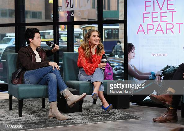 NEW YORK, NEW YORK - MARCH 12: Cole Sprouse and Haley Lu Richardson visits Build to discuss