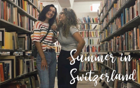 Josie and Chiara have a photoshoot in a library during Josie's visit back to Zürich.