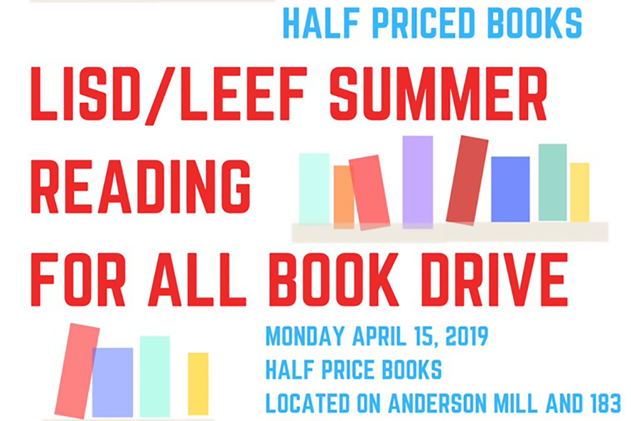 The Summer Reading for All book drive is tonight at Half Price Books.