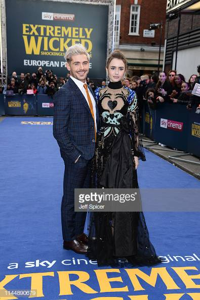 Zac Efron and Lily Collins attend the European premiere of the Sky Cinema's original