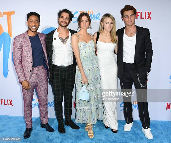 Jacob Latimore, Tyler Posey, Maia Mitchell, Halston Sage and KJ Apa attend the Special Screening Of Netflix's