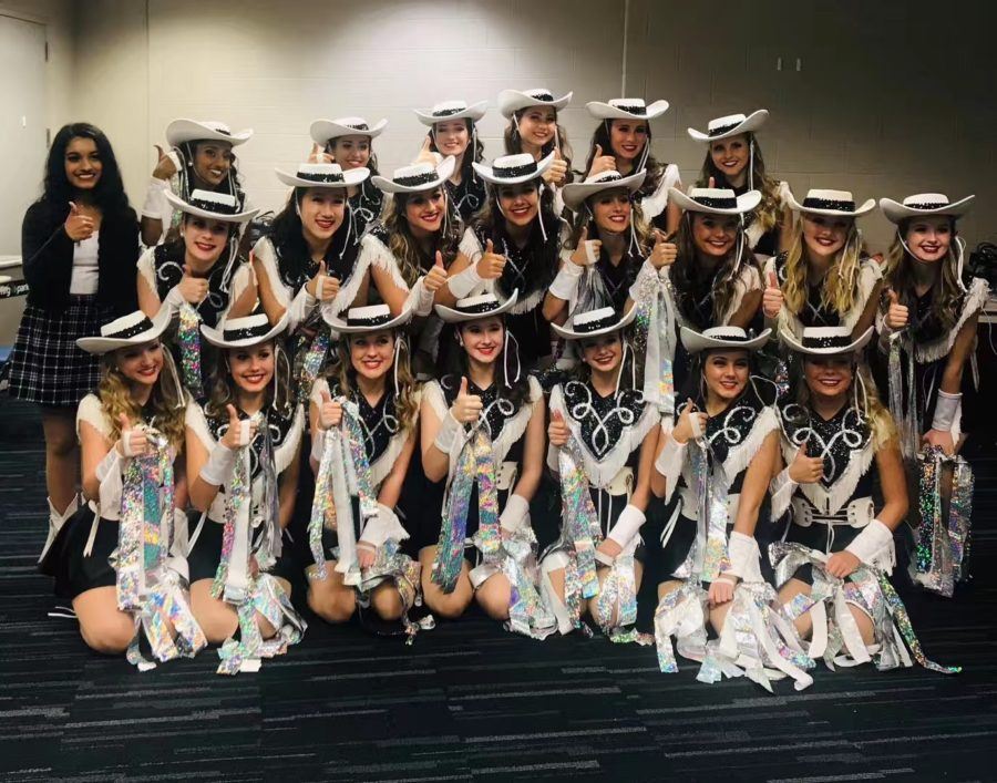 Legacy seniors at NRG stadium in Houston before performing in front the Indian Prime Minister Narendra Modi and President Donald Trump.