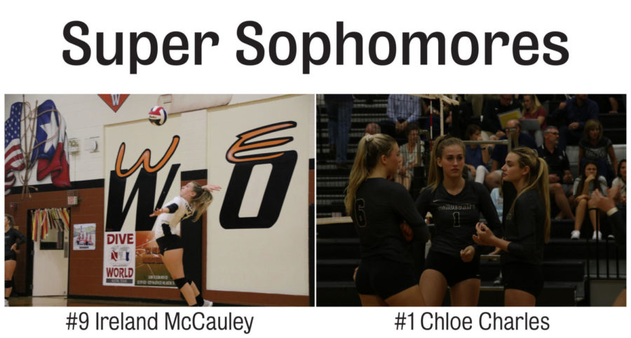 Sophomores+Ireland+McCauley+and+Chloe+Charles+both+made+the+varsity+volleyball+team+as+sophomores.+
