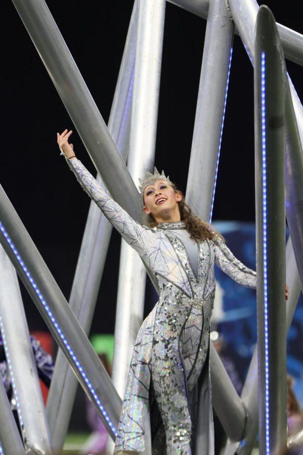 Rachel Bischof preforming during the Grand National semifinals.
