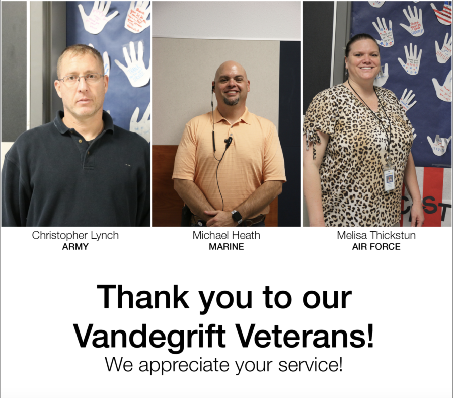 Vandegrift honors 3 veterans