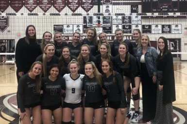 Volleyball team passes onto round three of playoffs for first time
