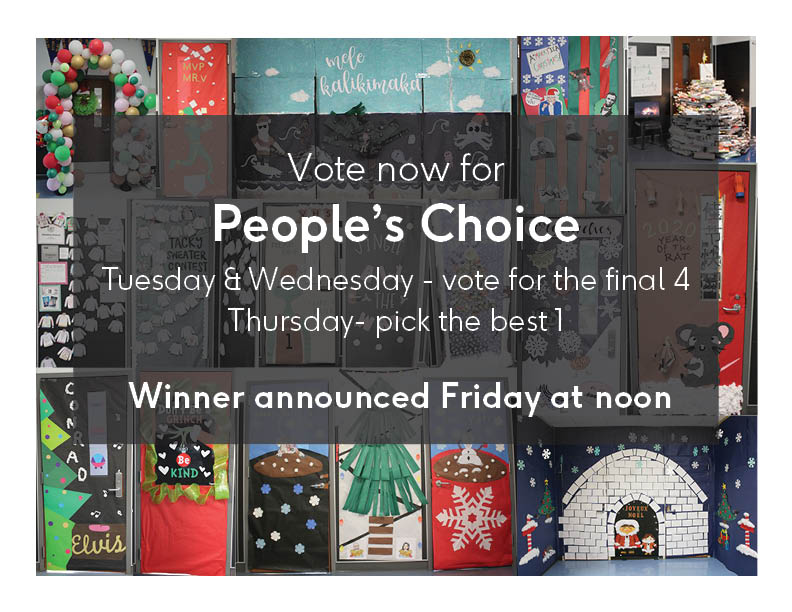 Vote for the People's Choice holiday door winner