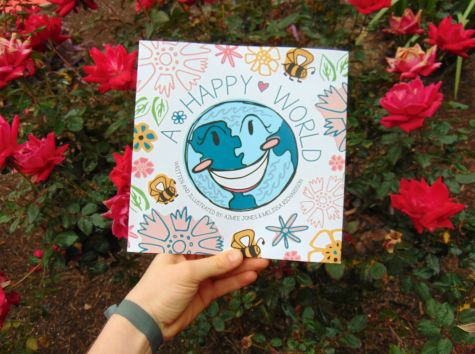"""A Happy World"" features both Jones and Richardson as authors and illustrators."