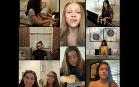 Viper Choir students participate in last semester's online Pop Unplugged concert.