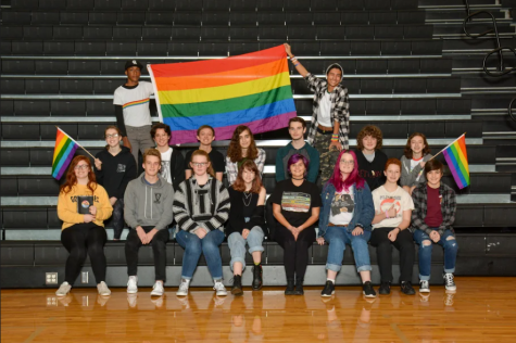 The LgbtVipers+ club yearbook photo from the 2019-2020 school year.
