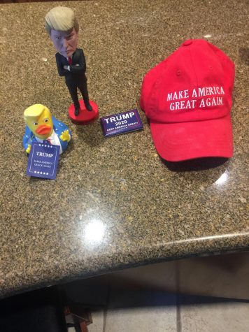 A collection of Trump memorabilia, with him leaving the Whitehouse, these will most likely be very valuable.  Photo by Nicholas Scoggins