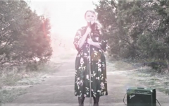 Theatre teacher, Celeste Schneider, sings in her first music video to the song