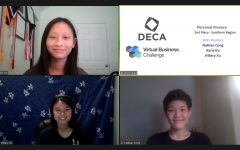 Karis Hu, Hillary Xu and Nathan Cong advance to second round of virtual business challenge.
