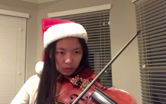 President of the Vandegrift Musicians club, Karen Li, performs  the song