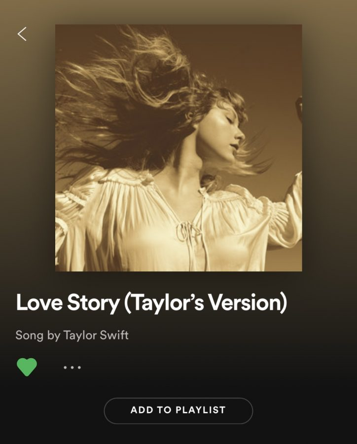 The+rerecording+of+Love+Story%28Taylor%27s+Version%29+is+now+available+on+Spotify+and+Apple+Music