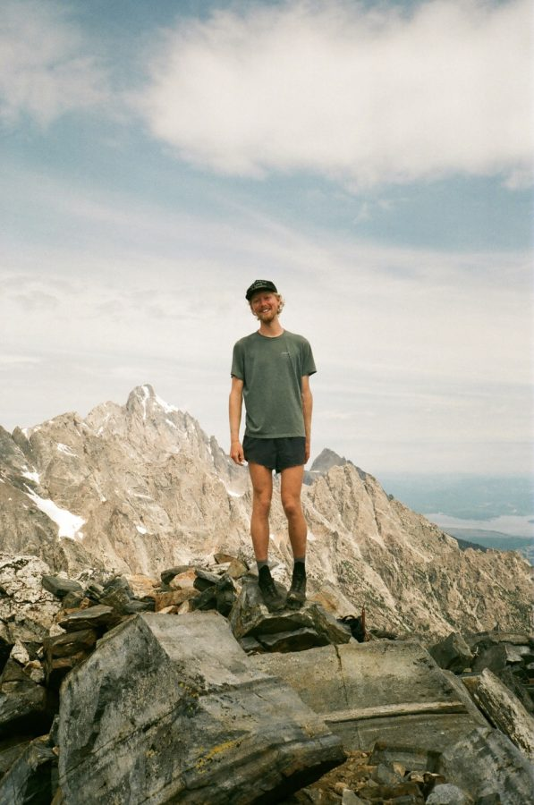 Alec McKeand hikes in the Grand Tetons in Wyoming in 2019.