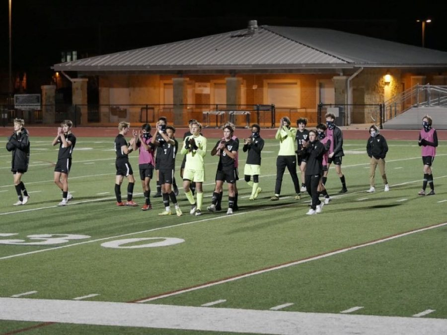 Boys+varsity+soccer+thanking+everyone+who+has+supported+them+along+the+way.+