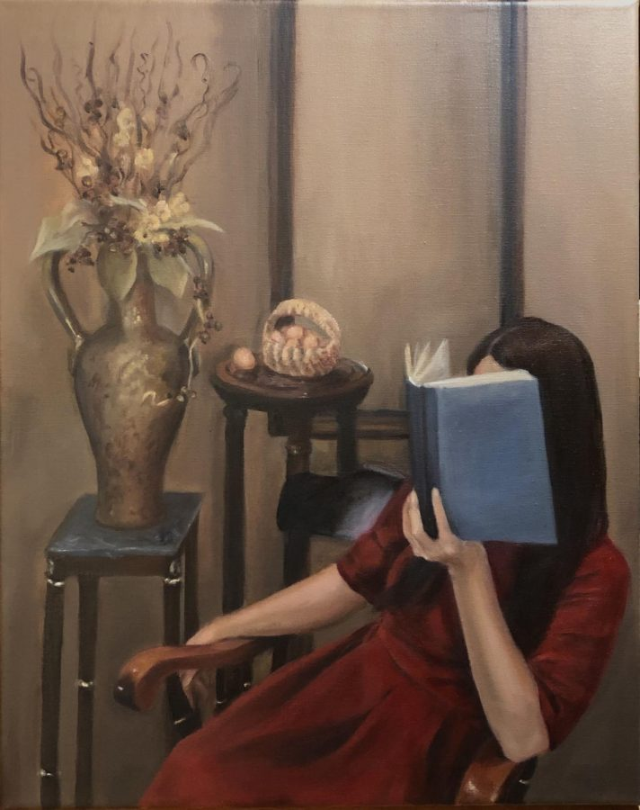 """Junior Grace Parks painted an oil painting titled """"The Fortuneteller."""""""