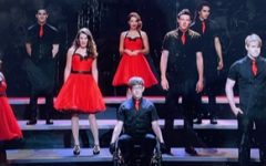 Some members of the Glee Club performing 'We are the Champions' in Season 3 episode 21