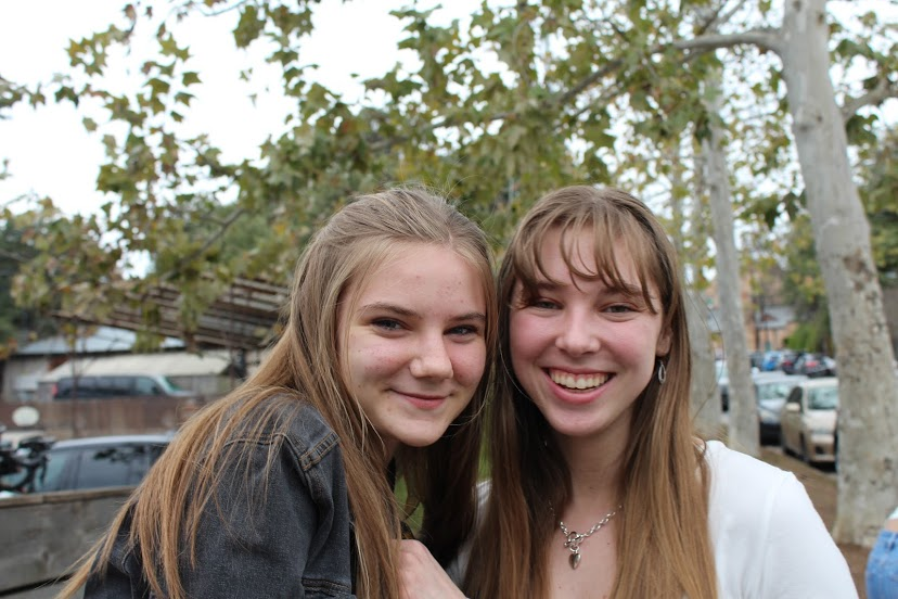 The writer and her best friend senior Meagan Henry, whose mother was at the Arboretum during the shooting.