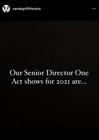 Senior Director One Act shows for 2021 are announced on March 21, 2021